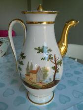 Antique  French Old Paris Empire era hand painted porcelain coffee pot