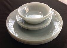 Fire King Gray Grey Laurel Leaf Lustre Oven Ware Dinner Plate Bowl Saucer