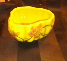 "MWW Market Orange 4"" Ceramic Harvest Bowl w/ Maple Leaves Thanksgiving Fall Deco"