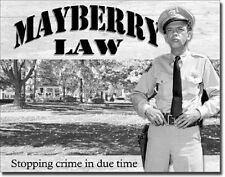 Andy Griffith Show Classic TV Mayberry Law Barney Fife Retro Metal Tin Sign New