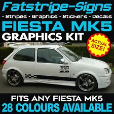 FORD FIESTA MK5 GRAPHICS STRIPES DECALS STICKERS CAR VINYL 1.2 1.6 1.8 16V ZETEC
