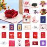 3D Postcard Card Birthday Wedding Valentine Xmas Greeting Cards Invitations Gift