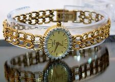 Michael Anthony Watch Designer 14k Solid Gold Diamond Bezel Sapphire Crystal