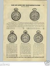 1928 PAPER AD Illinois Sangamo Railroad Elgin Pocket Watch High Grade Boss