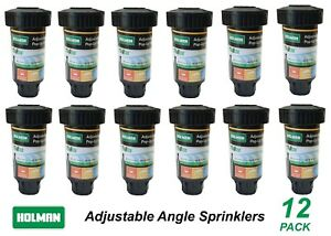 12 Pack x Popup Sprinklers with Adjustable Angle Universal 3.6m Radius Pop-Up