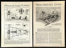 Ice Sled 2 seater Propellor Driven 1931 HowTo build Plans Harley Motor Power