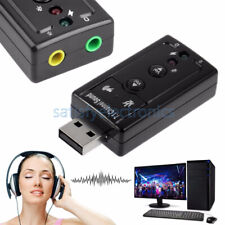 Mini USB 2.0 7.1 Channel Audio Sound Card Sound Adapter For PC Laptop