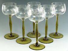 CRISTALLO di Boemia-Antico fruttificazione Vine-Color Hock Occhiali-Set di 6