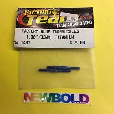 "Team Associated AS1401 Factory Blue Titanium Turnbuckles 1.30""""/33mm"