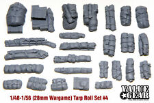 1/56 scale, 28mm Wargaming Tents, Tarps & Crates #4 (26 Pieces)
