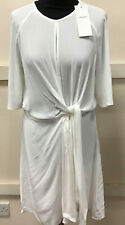 Womens White Lightweight Tie Summer Dress Size L NEW With Tags