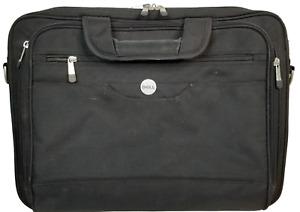 """Genuine Dell Laptop Case Carrying Bag Black 17x13x4"""" Portfolio Partition Bag"""