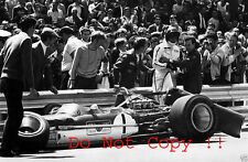Graham Hill Gold Leaf Team Lotus 49B Spanish Grand Prix 1969 Photograph 2