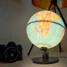 25cm LED Night Light World Globe Illuminated Lamp Desk Decor Kids Students Gift