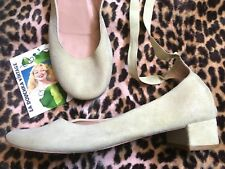 Repetto French Ballerinas Flats & Ankle Laces~Sage Green Suede~Made In France~9