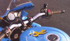 Superbike Lenker Umbau - Kit SUZUKI GSX - R 1000 01-08 schwarz eloxiert