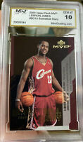 2003 Upper Deck MVP LeBron James Rookie Basketball Diary Gem Mint 10 Insert SP