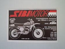 advertising Pubblicità 1977 MOTO KTM GS 125