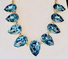 J.Crew Factory Crystal Teardrop Statement Necklace Sold Out! New$56.50 Dusty Sea