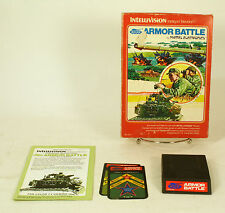 Vintage Boxed Intellivision Game Armor Battle Tested & Working