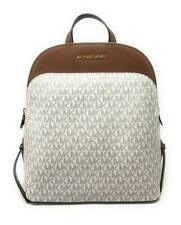 Michael Kors EMMY Vanilla Logo PVC Large Dome Backpack jet set