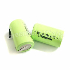3 pcs AA NiMH 2/3 A 2/3A 1600mAh 1.2V rechargeable battery with tab Green