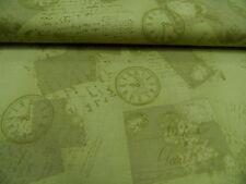 "tela patchwork de ""Relojes"" - Rosie ´s Journey - All Over 100% BW 50 x 110cm"