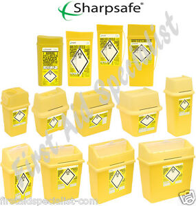 Sharps Waste Bin Box 0.2 Litre- 30 Litre Medical Lab Supplies Disposables Travel
