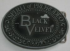 Black Velvet Blended Canadian Whisky Belt Buckle Metal Oval
