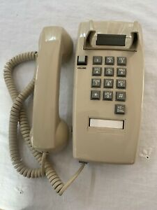 Good Used PREMIER HAC 2554 Beige Push Button Wall Mount Corded Telephone Phone