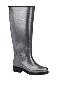 BRAND NEW! Melissa Fullness Rain Boot, Silver Glitter Like Hunter, Womens Size 7