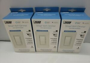 3 Pack Feit Electric Wi-Fi Smart Dimmer 3-Way Switch Alexa w/ Google Assistant