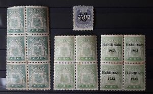 PERU lot revenue banking multiple block of 4 Habilitado 1933 fiscal finance 1932