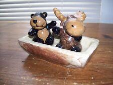Lodge by Genuine Sonoma Home Goods Salt & Pepper Moose Bear..Nice!