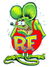 "Rat Fink X Large Decal 24"" x 14"" Free Shipping"