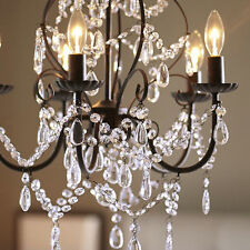 Elegant Modern Ceiling Light Crystal Chandelier Pendant Lighting Fixture 5 Lamp