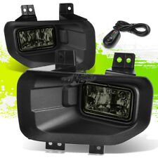 Pair Smoke Tinted Lens Front Head Bumper Fog Lamp+Switch+Harness For 15-17 F150