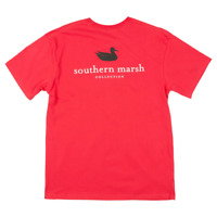 Southern Marsh Authentic Collegiate Red w/ Black Large T-Shirt Short Sleeve