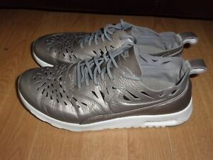 Nike Air Max Thea Joli Metallic Pewter leather ladies trainers size 6