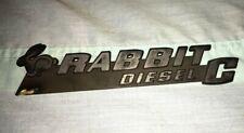 Vintage Rabbit Diesel C Volkswagen Emblem OEM