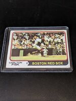 ** 1974 Topps Carlton Fisk #105 Nice Old Baseball Card **