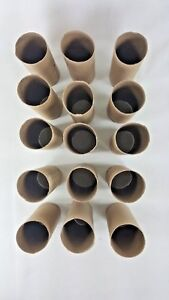 Lot of 15 clean toilet paper cardboard tubes for school or home crafts FREE SHIP