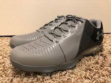 Under Armour Spieth 2 Golf Shoes Gray Black Gore-Tex Mens Size 10 3000165-100