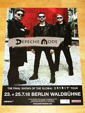 """DEPECHE MODE 2018 BERLIN KONZERT POSTER WALDBÜHNE """" GLOBAL SPIRIT TOUR """" in NEU"""