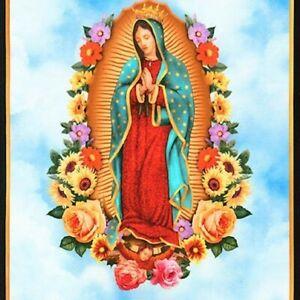 New Virgin Mary Panel - Inner Faith - New Robert Kaufman  SRK-17296 63 Sky