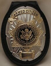 Oval and Star CCW Badge for the Armed Citizen Massachusett (misspelled on badge)