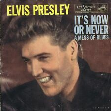 ELVIS PRESLEY It's Now or Never/A Mess of Blues Vinyl 45 Rock Record PS VG+ 1960