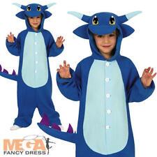 Dragon Jumpsuit Kids Fancy Dress Fantasy Animal Halloween Book Day Boys Costume