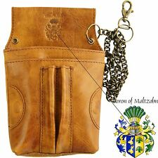 Waiters holster EPSILON made of brown Rodeo-leather - BARON of MALTZAHN