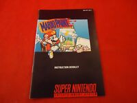 Mario Paint Super Nintendo SNES Instruction Manual Booklet ONLY